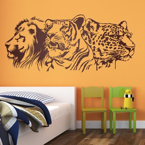Wandtattoo Lowe Tiger Und Leopard Webwandtattoo Com