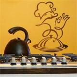 Wandtattoos: Chef-Küche Feinkost 2