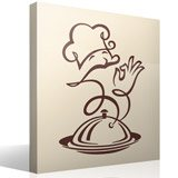 Wandtattoos: Chef-Küche Feinkost 3