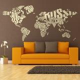 Wandtattoos: Typografische Weltkarte 0