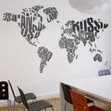 Wandtattoos: Typografische Weltkarte 2
