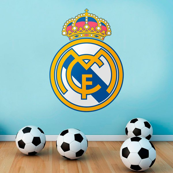 Wandtattoos: Real Madrid wappen Farbe