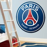 Wandtattoos: Paris Saint-Germain FC wappen Farbe 4
