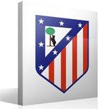 Wandtattoos: Atlético de Madrid wappen Farbe 3