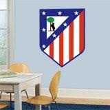 Wandtattoos: Atlético de Madrid wappen Farbe 4