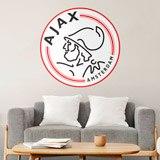 Wandtattoos: Ajax Amsterdam wappen Farbe 3