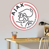 Wandtattoos: Ajax Amsterdam wappen Farbe 4