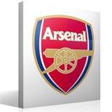 Wandtattoos: FC Arsenal wappen Farbe 3