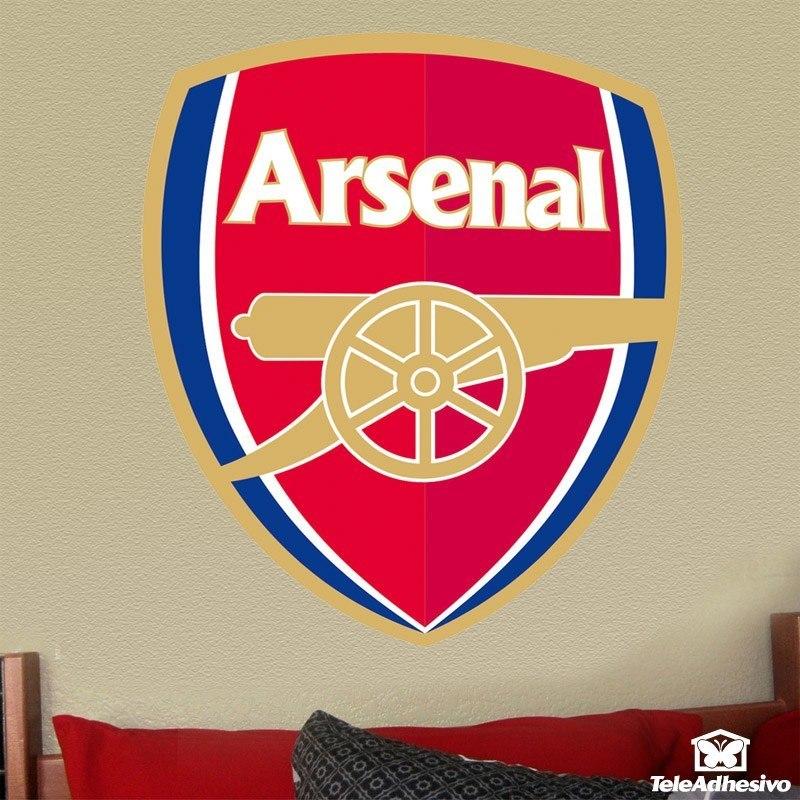 Wandtattoos: FC Arsenal wappen Farbe