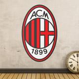 Wandtattoos: AC Milan wappen Farbe 3