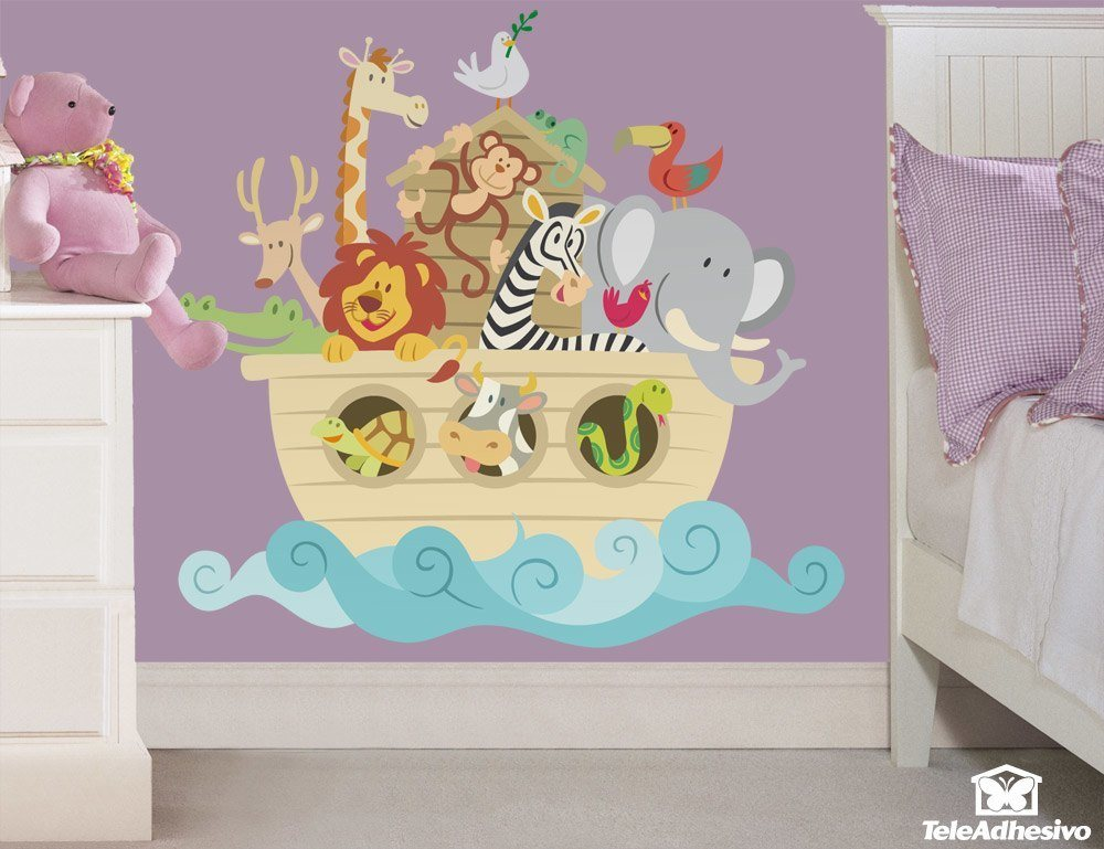 Kinderzimmer Wandtattoo: Noah s Ark color