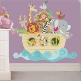 Kinderzimmer Wandtattoo: Noah s Ark color 3