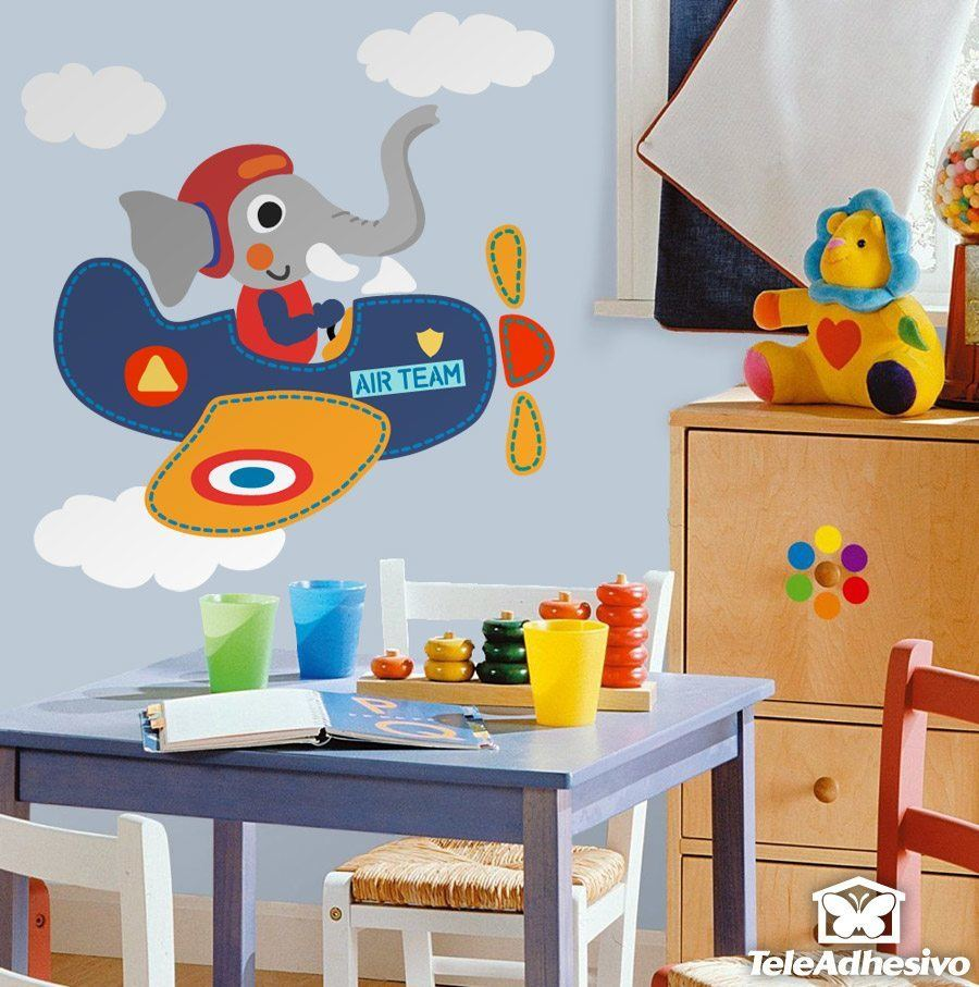 Kinderzimmer Wandtattoo: Elephant Ebene Pilot