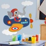 Kinderzimmer Wandtattoo: Elephant Ebene Pilot 3