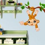 Kinderzimmer Wandtattoo: Affe hängen von Ast 3