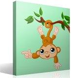 Kinderzimmer Wandtattoo: Affe hängen von Ast 4