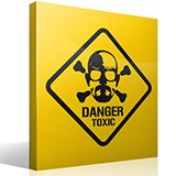 Wandtattoos: Heisenberg Danger Toxic 2