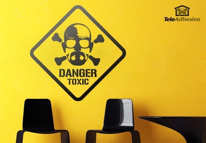 Wandtattoos: Heisenberg Danger Toxic