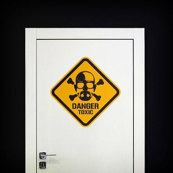 Wandtattoos: Heisenberg Danger Toxic Color 1