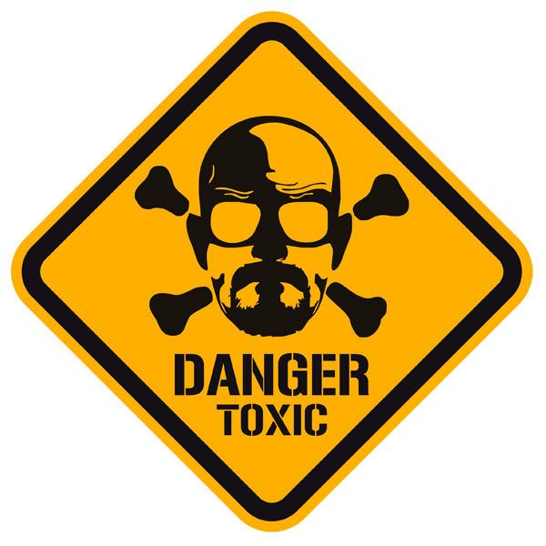 Wandtattoos: Heisenberg Danger Toxic Color