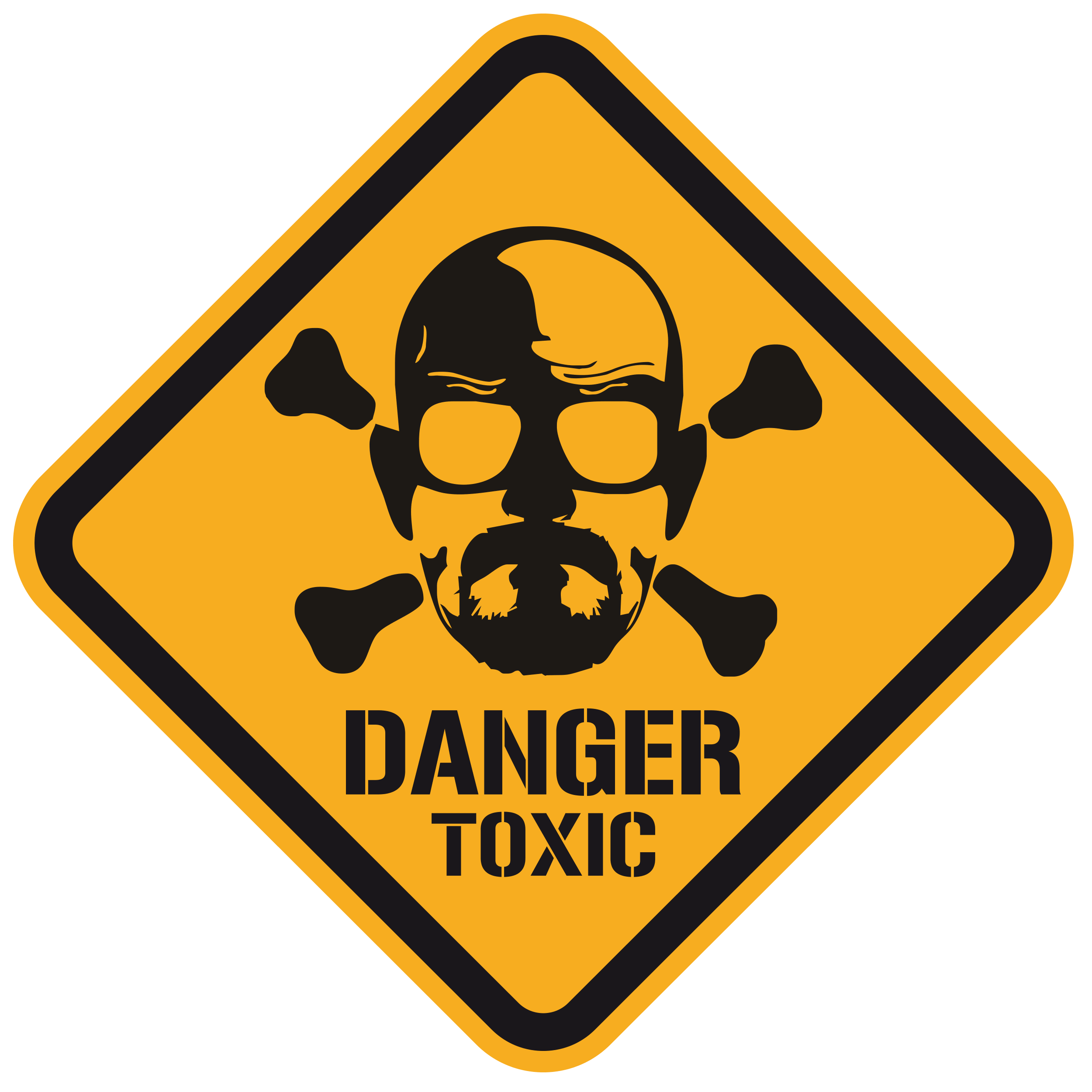 Wandtattoos: Heisenberg Danger Toxic Color 0