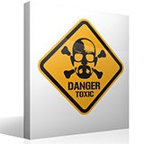 Wandtattoos: Heisenberg Danger Toxic Color 3