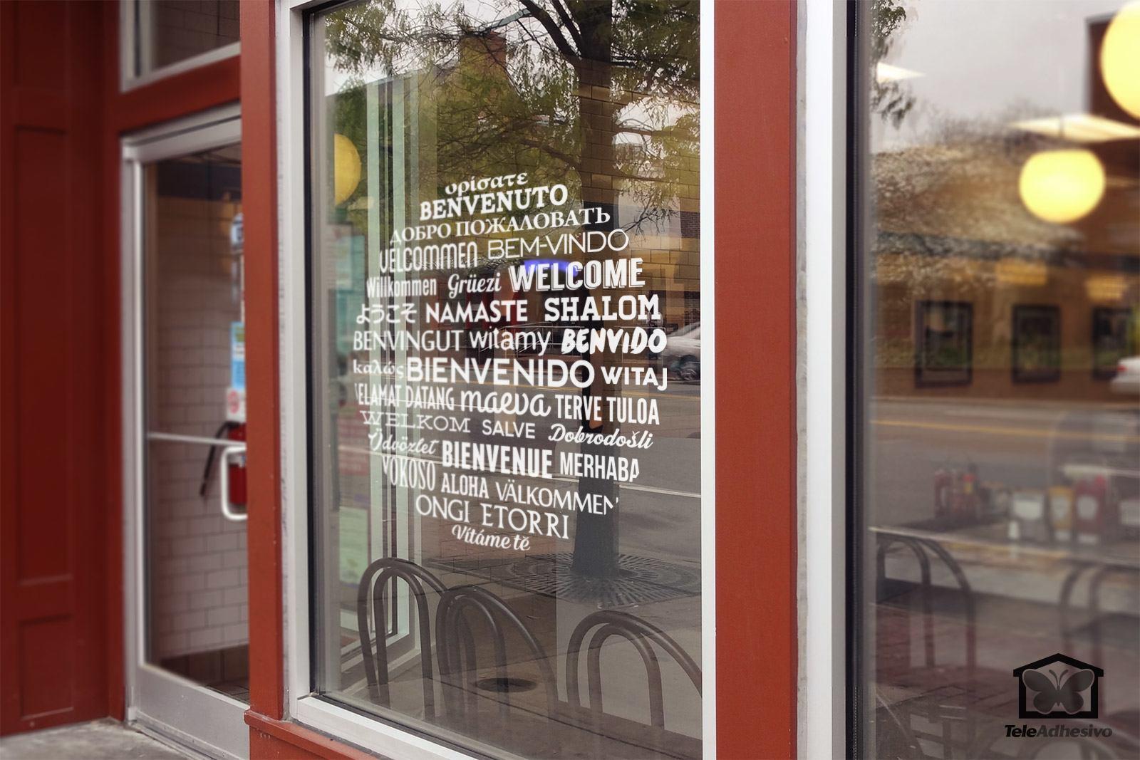 Wandtattoos: Willkommen auf Sprachen