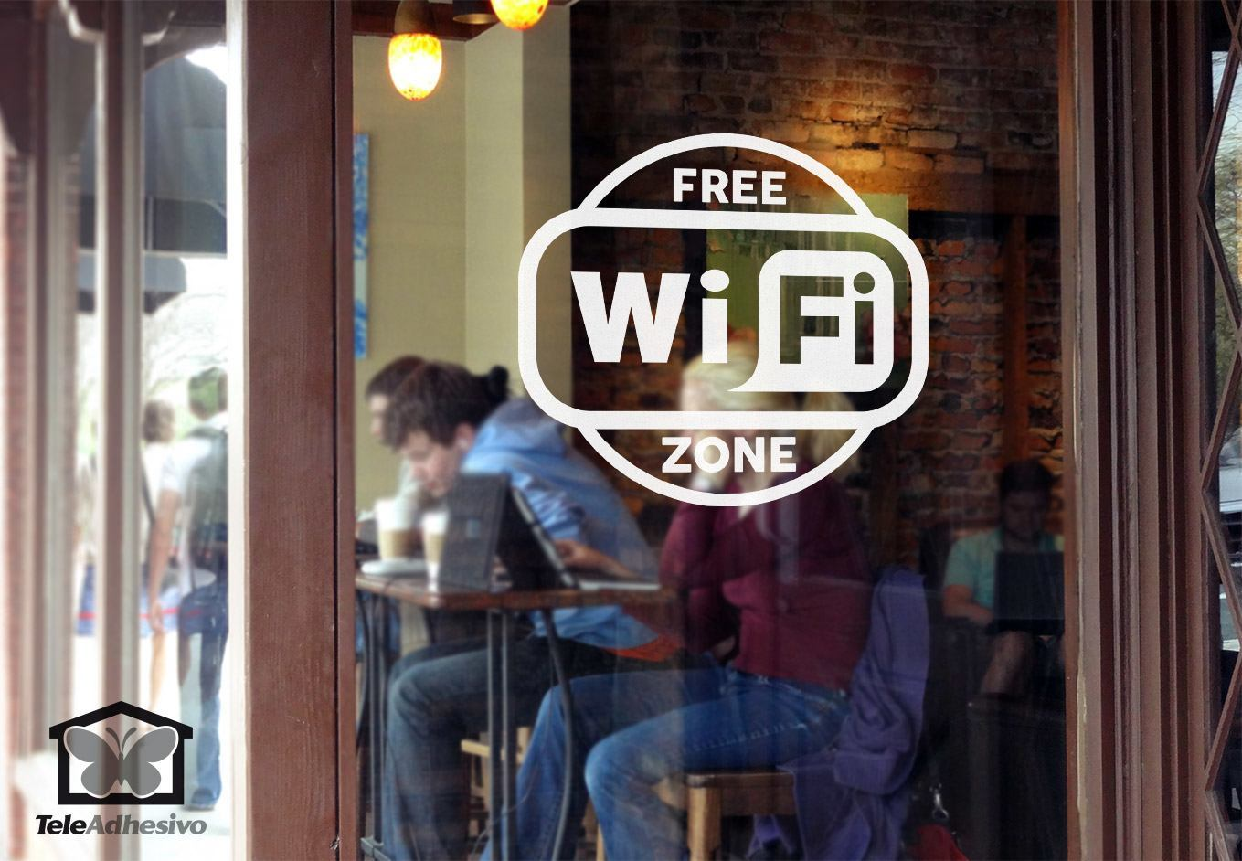 Wandtattoos: Free Wifi Zone