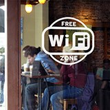 Wandtattoos: Free Wifi Zone 3