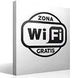 Wandtattoos: Free Wifi Zone 2