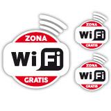 Wandtattoos: Zona Wifi Gratis - Pack 3 aufkleber 1