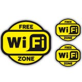 Wandtattoos: Free Wifi Zone 2 - Pack 3 aufkleber 1