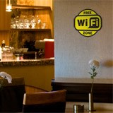 Wandtattoos: Free Wifi Zone 2 - Pack 3 aufkleber 2