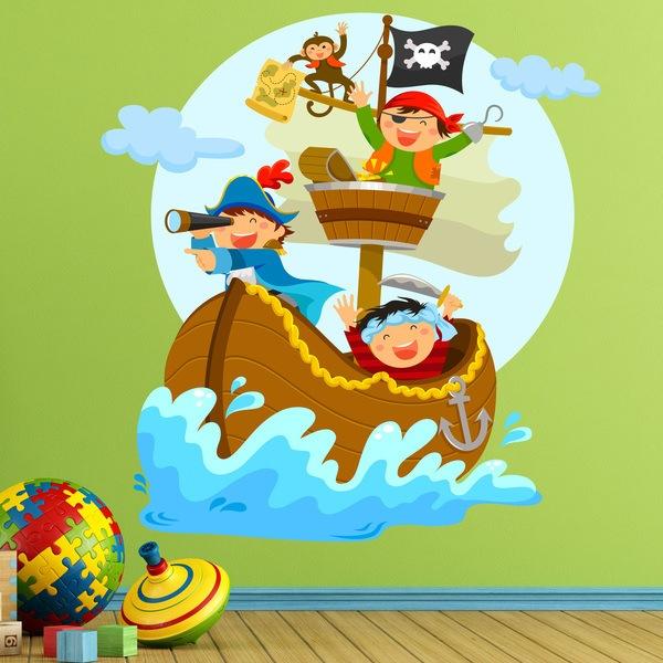 Wandtattoo Kinderzimmer Piratenschiff | Wandtattoo Pirat Webwandtattoo Com