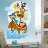 Kinderzimmer Wandtattoo: Piraten segeln auf seinem Boot 3