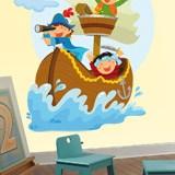 Kinderzimmer Wandtattoo: Piraten segeln auf seinem Boot 5