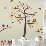 Wandtattoos: Baum, Vögel und Eulen 3
