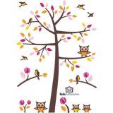 Wandtattoos: Baum, Vögel und Eulen 5