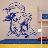 Wandtattoos: 4 Dolphins Meeresboden 2