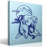 Wandtattoos: 4 Dolphins Meeresboden 3