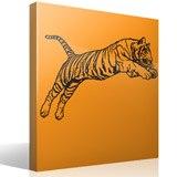 Wandtattoos: Bengal-Tiger-Sprung 3