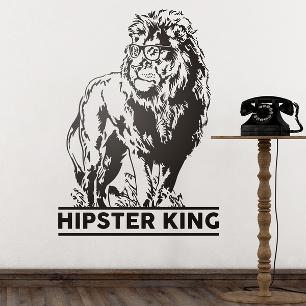 Wandtattoos: Hipster King