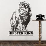 Wandtattoos: Hipster King 0