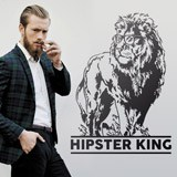 Wandtattoos: Hipster King 2