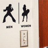 Wandtattoos: Elvis Marilyn Toilettenzeichen Englisch 2
