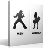 Wandtattoos: Elvis Marilyn Toilettenzeichen Englisch 3