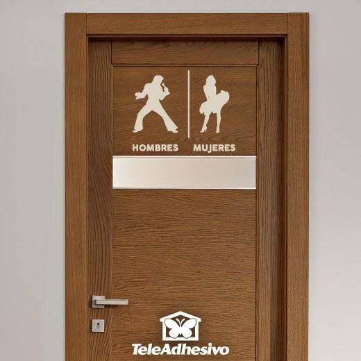 Wandtattoos: Elvis Marilyn Toilettenzeichen Spanisch