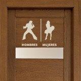 Wandtattoos: Elvis Marilyn Toilettenzeichen Spanisch 2