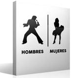 Wandtattoos: Elvis Marilyn Toilettenzeichen Spanisch 3
