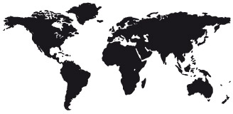 Wandtattoos: Weltkarte 4